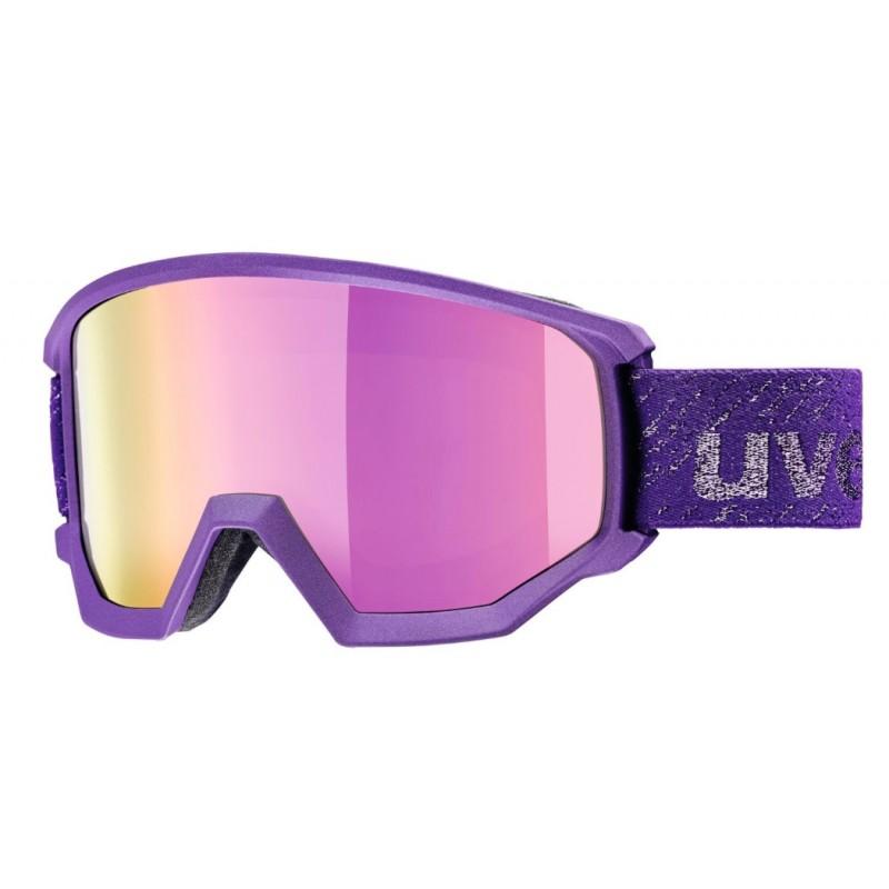 Uvex Athletic Fm Viola Scuro Metalliz. Lente Specchio Rosa S3