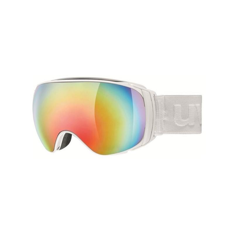 Uvex Sportiv Fm Bianco Opaco Lente Specchio Arcobaleno S3
