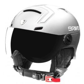 Briko  Stromboli Visor 1V Matt Shiny White Casco Con Visiera Bianco