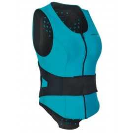 Komperdell Air Vest Women Gilet Paraschiena Nero/Azzurro