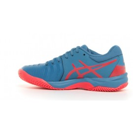 Asics Gel Resolution 7 Clay Gs Azure/Red Alert Tennis Junior
