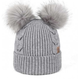 Jail Jam Blackford Pearl Grey Cappello Coste/Trecce 2 Pon Pon Ecopel Gri-Giuglar Shop