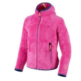 Cmp Girl Highloof Jkt Fix Hood Orset Pile Zip Cap Fuxia Junior Bimba-Giuglar Shop