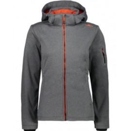 Cmp Woman Jacket Softshell Zip Capp Stacc Grigio Melange Donna-Giuglar Shop