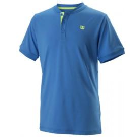 Wilson B Uwii Henley Polo Girocollo Brilliant Blue Junior-Giuglar Shop