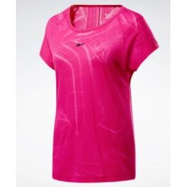 Reebok Ts Burnout Tee T-Shirt Lavorazione Laser Fuxia Donna-Giuglar Shop