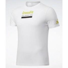 Reebok Rc Prepare Tee T-Shirt M/M Bianca Scitta Crossfit Lime Uomo-Giuglar Shop