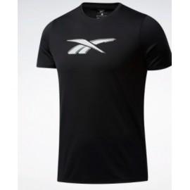Reebok Wor Poly Graphic Ss Tee T-Shirt M/M Speedwick Nera Logo Uomo-Giuglar Shop