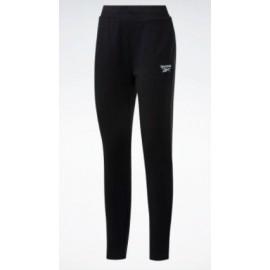 Reebok Cl French T Pant Sm Log Pantalone Cotone Garzato Nero Donna-Giuglar Shop