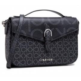 Calvin Klein Shoulder Bag W/Top H Mono Scl Black Borsetta Tracolla Ecop Loghi-Giuglar Shop