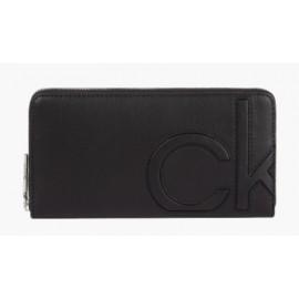 Calvin Klein Z/A Wallet Lg Ck Portafogli Nero Ecopelle Logo-Giuglar Shop