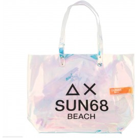 Sun 68 Borsa Pvc Argento Logo - Giuglar Shop