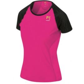 Karpos Lavaredo W Jersey T-Shirt M/M Lycra Fuxia/Nera Donna-Giuglar Shop
