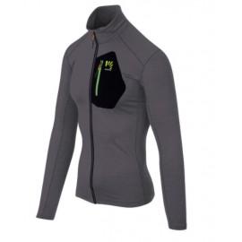Karpos Pomedes T-Shirt Ls Micropile Zip Dark Grey Uomo-Giuglar Shop