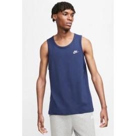 Nike M Nsw Club Canotta Cotone Blu Uomo-Guglar Shop
