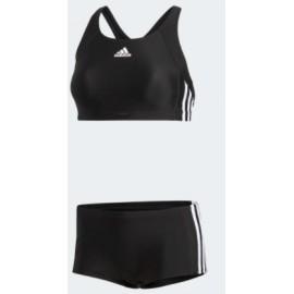 Adidas Inf Ec3S 2Pc Costume 2 Pz Top+Culotte Nero 3S Bia Donna-Giuglar Shop