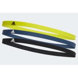 Adidas 3Pp Hairband Pacco 3 Elastici Fronte Nero/Blu/Verde Lime-Giuglar Shop