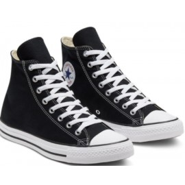 Converse All Star Hi Black Canvas Alta Nera-Giuglar Shop