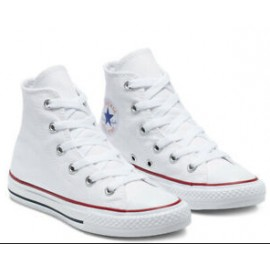 Converse Yths Ct Core Hi Optical White Canvas Alta Bianca Junior-Giuglar Shop