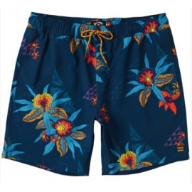 Billabong Sundays Layback Boardshort Blu Stampa Floreale Colorata Uomo-Giuglar Shop
