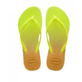 Havaianas Slim Gradient White/Fluorescent Giallo Fluo/Oro Donna-Giuglar Shop