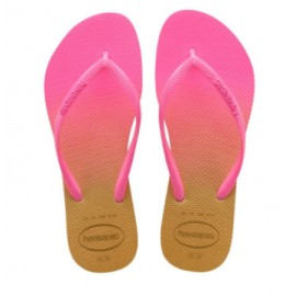 Havaianas Slim Gradient White/Fluorescent Fuxia Fluo/Oro Donna-Giuglar Shop