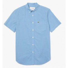 Lacoste Camicia M/M Regular Fit Quadretto Piccolo Azzurra Uomo-Giuglar Shop