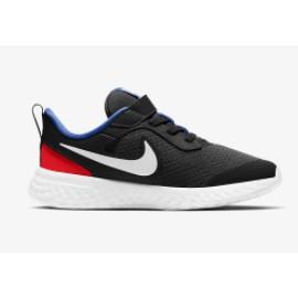 Nike Revolution 5 (Psv) Black/White-University Red Junior-Giuglar Shop