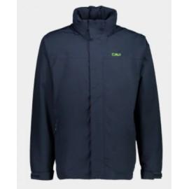 Cmp Man Jacket Buttons Hood Giacca Impermeabile Fodera Rete Blu Uomo-Giuglar Shop