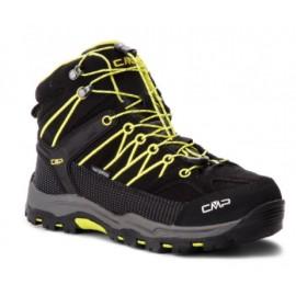 Cmp Kids Rigel Mid Trekking Shoes Wp Nero-Limeade Junior-Giuglar Shop