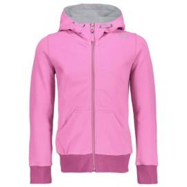 Cmp Kid G Jacket Fix Hood Felpa Zip Capp Cotone Garzato Rosa Junior-Giuglar Shop