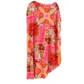 Effek Vestito Corto Lycra Fant Arancio/Rosa Donna-Giuglar Shop