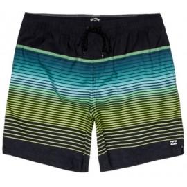 Billabong All Day Stripe Lb Boardshort Nero/Verde Sfumato Righe Uomo-Giuglar Shop