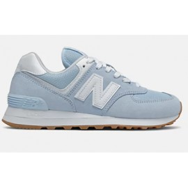 New Balance 574 Scamosciata/Nylon Azzurra N Bianca Donna-Giuglar Shop