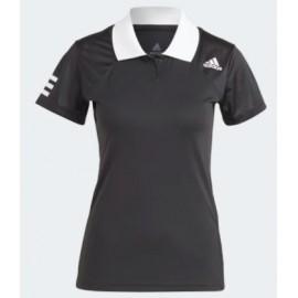 Adidas Club Polo Tennis Nera Colletto Bianco Donna-Giuglar Shop