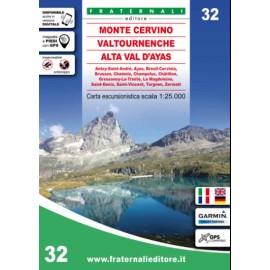 Fraternali Editore Cartina Monte Cervino, Valtournenche, Alta Val D Ayas-Giuglar Shop