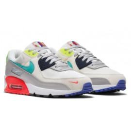 Nike Air Max 90 Se Pearl Grey/Sport Turq Uomo-Giuglar Shop