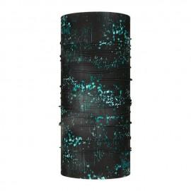Buff Coolnet Uv+ Speckle Black Fantasia Nera Gocce Verde Acqua - Giuglar Shop