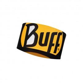 Buff Coolnet Uv+ Headband Ultimate Logo Black Nera Logo Giallo - Giuglar Shop