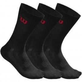 Wilson M Crew Sock 3Pk Pacco 3 Calze Tennis Nere - Giuglar Shop
