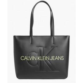 Calvin Klein Accessori Sculpted Shopper 29 Mono Muslin Borsa Nero-Giuglar Shop