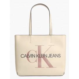 Calvin Klein Accessori Sculpted Shopper 29 Mono Muslin Borsa Cipria-Giuglar Shop