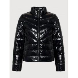 Calvin Klein Jeans Padded Puffer Jacket Giacca Ecopiuma Nylon Lucido Donna - Giuglar Shop