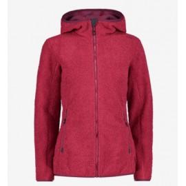 Cmp Woman Jacket Fix Hood Orsetto Ricciolo Viola Donna - Giuglar Shop